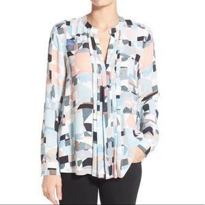 🌺Vince Camino Geometric Long Sleeve Blouse PM